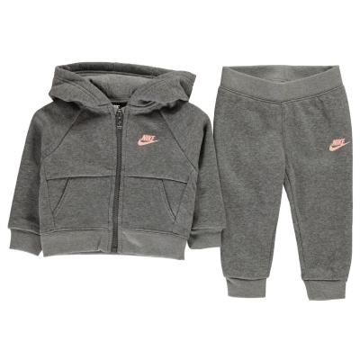 Trening Nike pentru fete pentru Bebelusi gri carbon heath