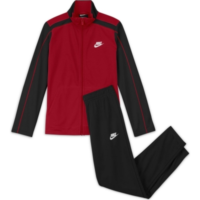 Treninguri Nike NSW Poly Juniors negru rosu