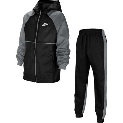 Treninguri Nike Sportswear Big Woven pentru Copii negru gri alb