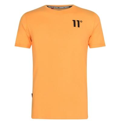 Tricou 11 Degrees Muscle Fit multicolor portocaliu