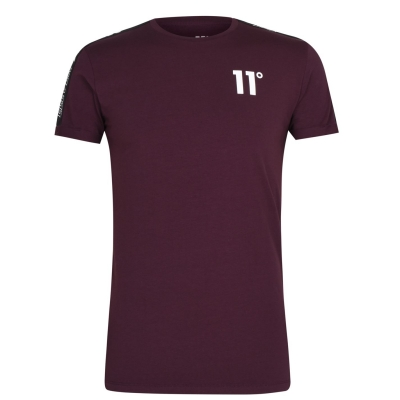 Tricou 11 Degrees Taped Muscle mulled rosu
