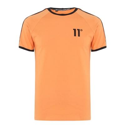 Tricou 11 Degrees Taped Ringer blaze portocaliu