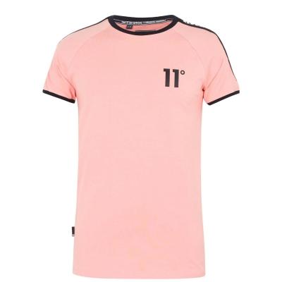 Tricou 11 Degrees Taped Ringer roz melba