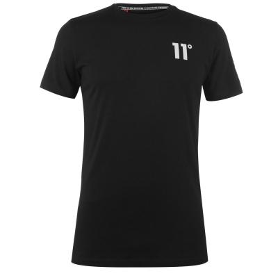 Tricou 11 Degrees Triad negru alb