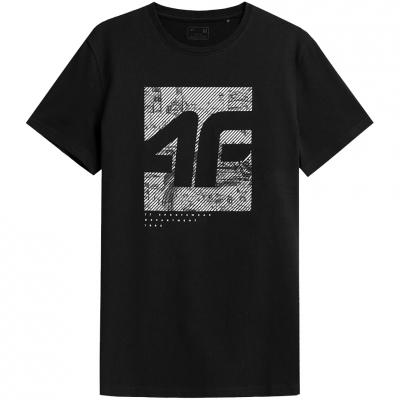 Tricou 4F negru intens H4Z21 TSM013 20S pentru Barbati