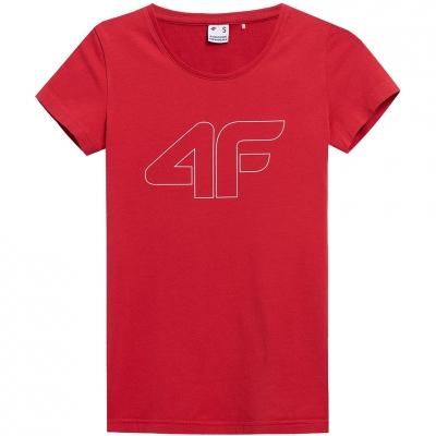 Tricou 4F rosu NOSH4 TSD353 62S pentru femei