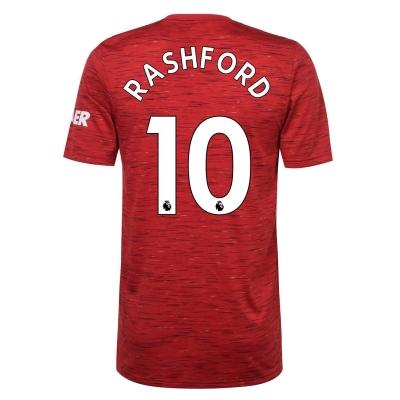 Tricou Acasa adidas Manchester United Marcus Rashford 2020 2021 rosu