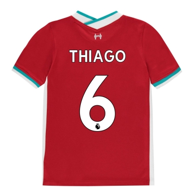 Tricou Acasa Nike Liverpool Thiago Alcantara 2020 2021 pentru copii rosu