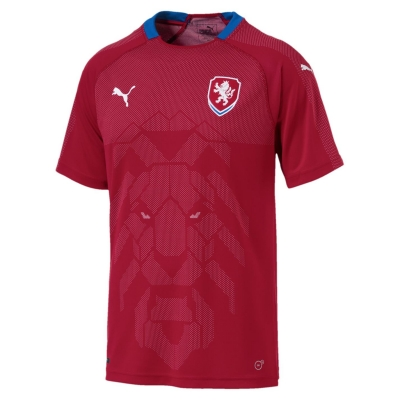 Tricou Acasa Puma Czech Republic 2018 rosu albastru roial