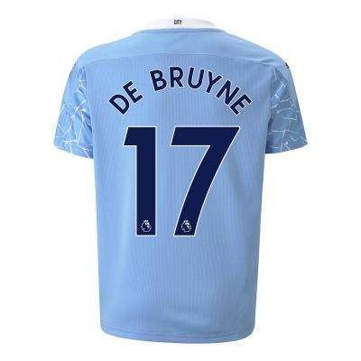 Tricou Acasa Puma Manchester City Kevin de Bruyne 2020 2021 pentru copii albastru