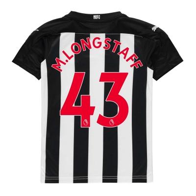 Tricou Acasa Puma Newcastle United Matty Longstaff 2020 2021 pentru copii negru alb