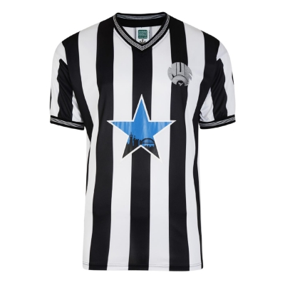 Tricou Acasa Score Draw Newcastle United 1984 pentru Barbati negru alb
