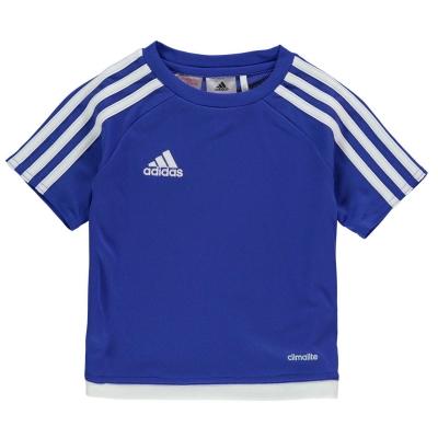 Tricou adidas 3 cu dungi Estro pentru Bebelusi bold albastru alb