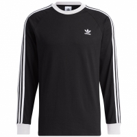 Tricou Adidas 3 Stripes maneca lunga T negru DV1560