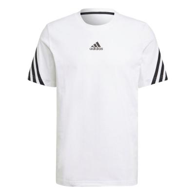 Tricou adidas 3S Tape pentru Barbati alb negru
