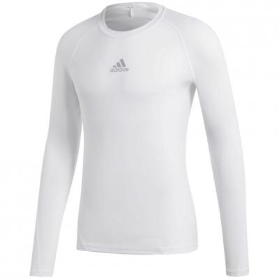 Bluza maneca lunga barbati adidas Alphaskin Sport alb CW9487