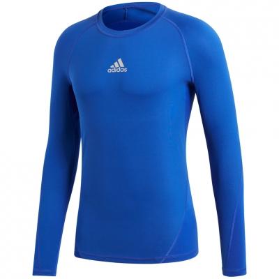 Bluza maneca lunga barbati adidas Alphaskin Sport albastru CW9488