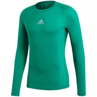 Bluza maneca lunga barbati adidas Alphaskin Sport verde CW9504