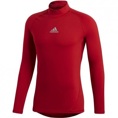 Tricou Adidas ASK SPR cu maneca lunga TEE Climawarm rosu DP5537