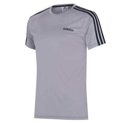 Tricou adidas clasic 3 cu dungi Sereno pentru Barbati gri bleumarin