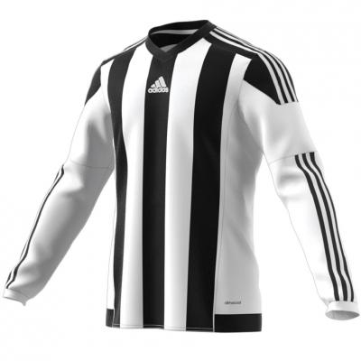 Tricou Adidas cu dungi 15 JSY alb negru M62778 copii teamwear adidas teamwear