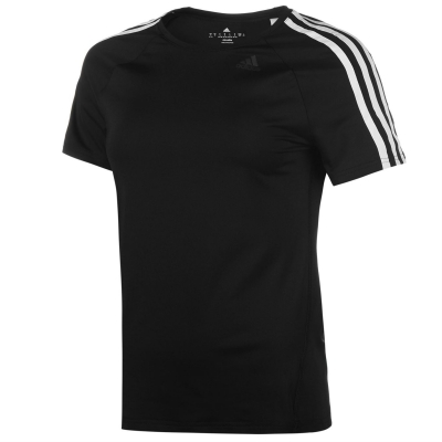 Tricou adidas D2M 3 cu dungi pentru Femei negru alb