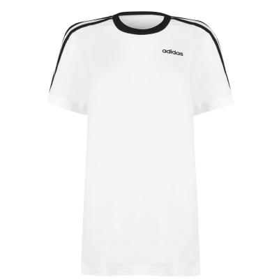 Tricou adidas Essentials 3 cu dungi pentru Femei alb negru