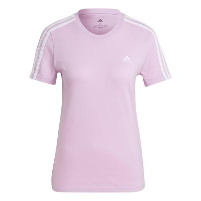 Tricou adidas Essentials 3 cu dungi pentru Femei violet alb
