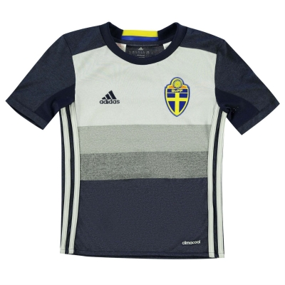 Tricou adidas Euro 2016 Suedia pentru baietei bleumarin alb
