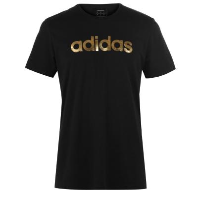 Tricou adidas Linear Foil pentru Barbati negru auriu