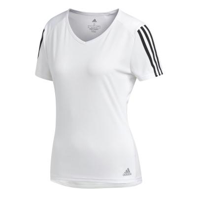 Tricou adidas Run It 3-Stripes imprimeu Graphic pentru femei alb negru