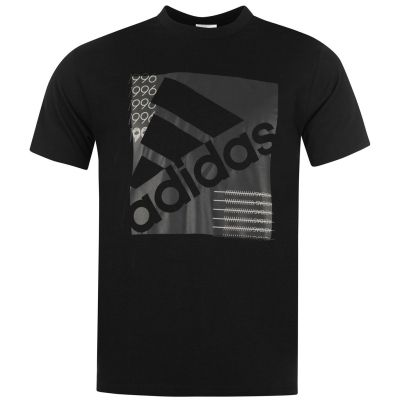 Tricou adidas Slanted Box pentru Barbati negru gri