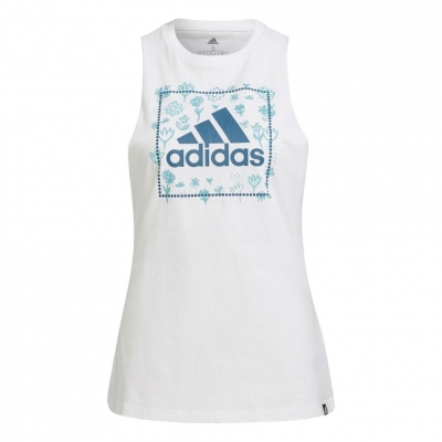 Tricou Adidas Soft Floral Box alb H14701 pentru femei