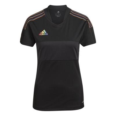 Tricou adidas Tiro Pride pentru Femei negru multicolor