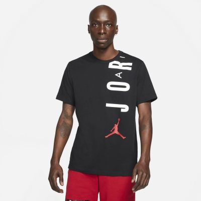 Tricou Air Jordan Jordan Stretch Short-Sleeve pentru Barbati negru alb
