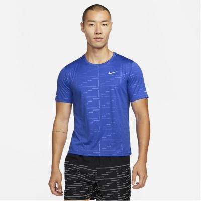 Tricou alergare Nike Dri-FIT UV Run Division Miler Embossed Short-Sleeve pentru Barbati hyper albastru roial