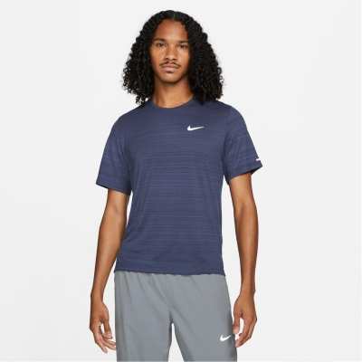 Tricou alergare Nike DriFit Miler pentru Barbati albastru reflective