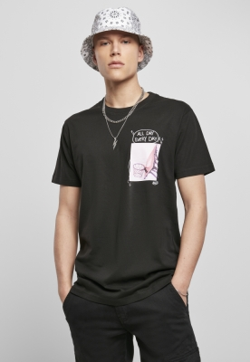 Tricou All Day Every Day roz negru Mister Tee