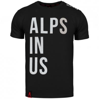 Tricou Alpinus Alps In Us negru ALP20TC0015 pentru Barbati