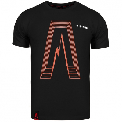 Tricou Alpinus Altai negru ALP20TC0035 pentru Barbati