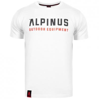 Tricou Alpinus Outdoor Eqpt alb ALP20TC0033 pentru Barbati
