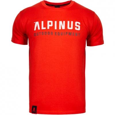 Tricou Alpinus Outdoor Eqpt rosu ALP20TC0033 pentru Barbati