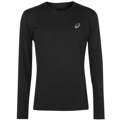 Tricou Asics Core cu Maneca Lunga alergare pentru Barbati negru