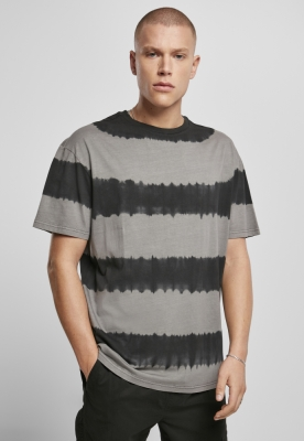 Tricou aspect prespalat supradimensionat cu dungi gri-negru Urban Classics