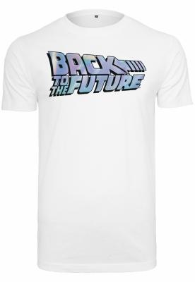 Tricou Back To The Future Shiny Logo alb Merchcode