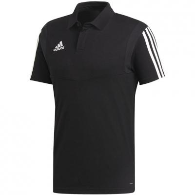 Tricou barbati Adidas Tiro 19 bumbac Polo negru DU0867 teamwear adidas teamwear