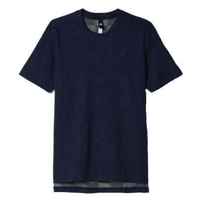 Tricou barbati Checked Tee Navy Adidas