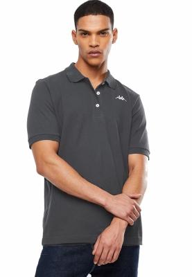 Tricou barbati  kappa polo sharus gri inchis