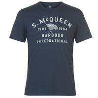Tricou Barbour International Barbour Steve MQ Boon dress albastru