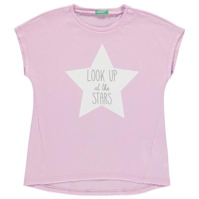 Tricou Benetton Star Print lila 00l